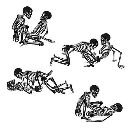 Human skeleton set.