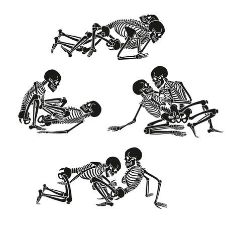Human skeleton set.
