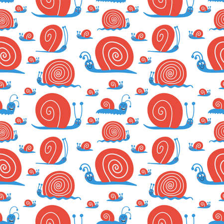 Vector cute seamless pattern with funny nails Illustration