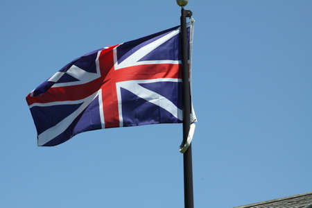 gently: Flag of the United Kingdom gently waving in a light breeze Stock Photo