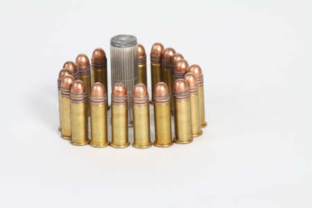 Bullets of different sizes and calibers 版權商用圖片