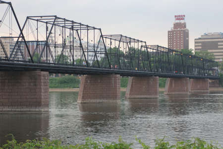 spanned: The Walnut Street Bridge also known as The People s Bridge, is a truss bridge that spanned the Susquehanna River in Harrisburg, Pennsylvania until 1996
