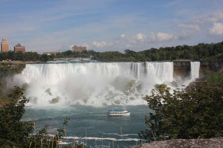View of the American Falls from the Canadian side, in the late afternoon in the Autumn season  Stock Photo