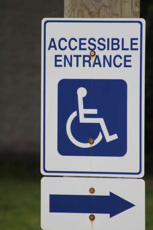 Meld aangeeft toegang voor gehandicapte mensen