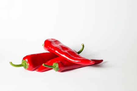 red sweet capa pepper on a white background