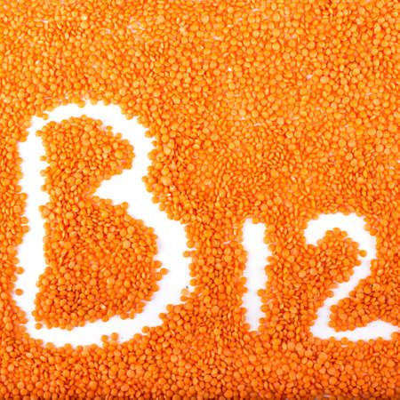 Red lentils are high in vitamin B12. Lentils are very healthy for their high B vitamins. Фото со стока