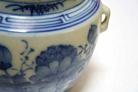 An antique chinese claypot.