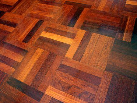 Parquet flooring.
