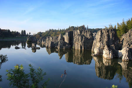 Limestone formation at the Shilin Stone Forest National Park, near Kunming, China
