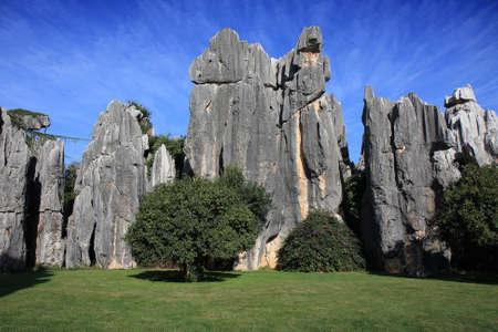 Calcare formazione naturale a Pietra Shilin Forest National Park, vicino a Kunming, Cina