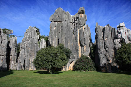 Natural limestone formation at the Shilin Stone Forest National Park, near Kunming, China