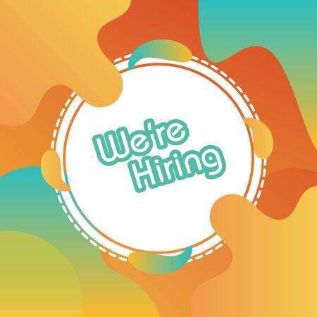 We're hiring. Vector illustration trendy background. Can use for web page, template, web, poster, banner, flyer, background