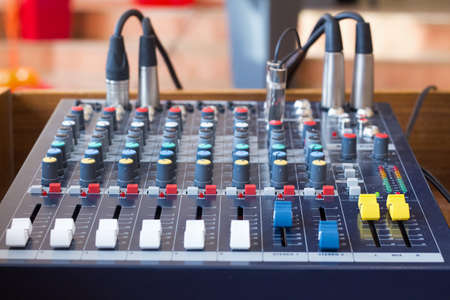 Audio mixer in a sound studio