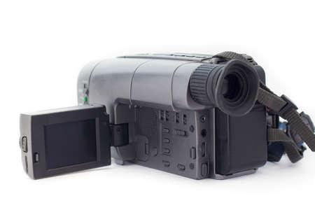 video camera on white background Stock Photo