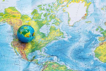 Still globe, map backround