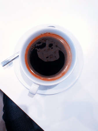a cup of black coffee 版權商用圖片
