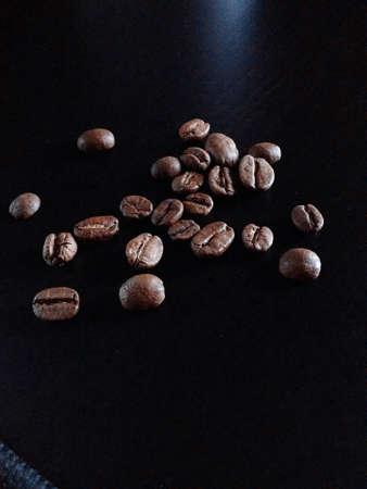 coffee grains on the table