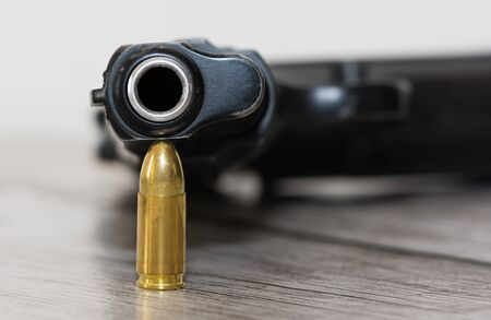 safety equipment, handguns and pistol bullets