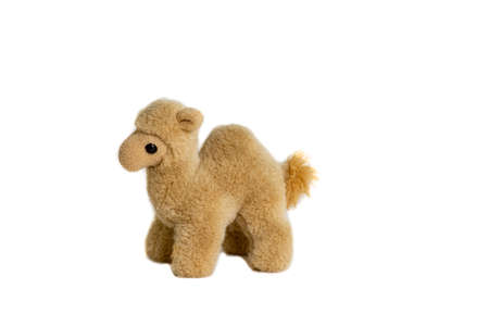 soft toy camel for children on a white background