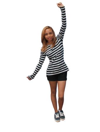 stripes: Girl with stripes Stock Photo
