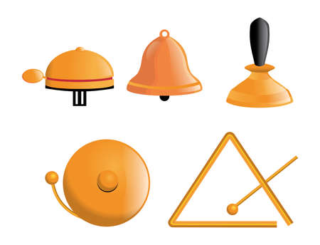 Various types of bells