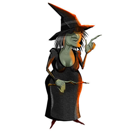 Bad witch vector illustration