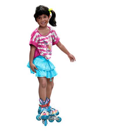 Realistic drawing of skating girl