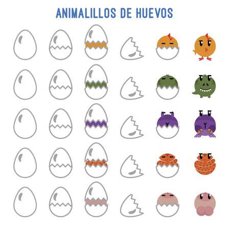 Animals that are born of eggs Stock Illustratie