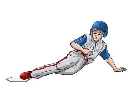 Baseball player on base