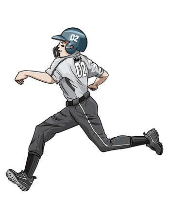 Happy baseball runner