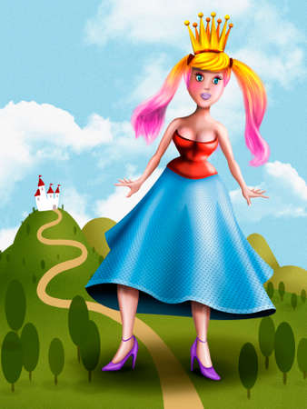 Beautiful giant princess