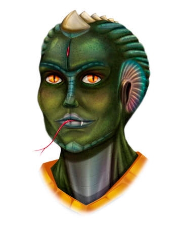 Fictional reptilian character from space