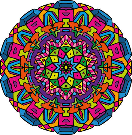 Mandala style with colonial design