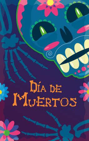 Skull flyer of the day of the dead mexico Archivio Fotografico - 156675264