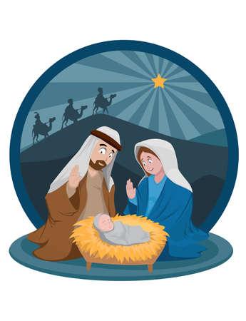 Birth of baby God in December Archivio Fotografico - 158191440