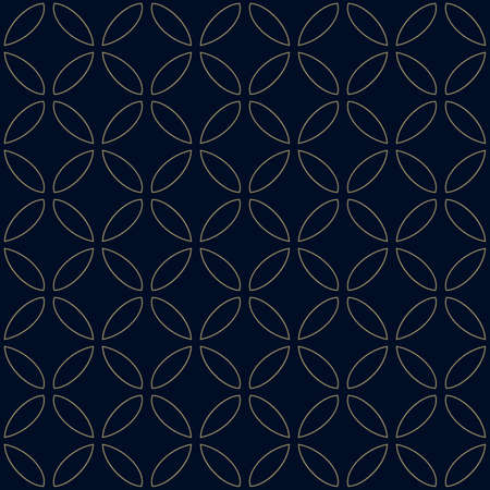 Vector seamless ornament of traditional Japanese embroidery - seven treasures