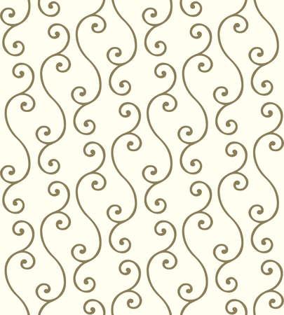 Golden twigs. Seamless vector pattern Illusztráció