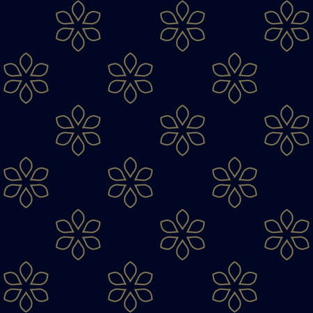 Seamless vector floral background. Abstract pattern. Ornament with outline flowers. Can be used for textile production, fabric, paper, web design.