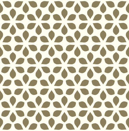 Seamless vector floral background. Geometric ornament stylized flowers. Can be used for textile, fabric, paper, web design, big surface.