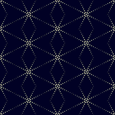 Dot stripe stars vector background in halftone style with shiny effect. Geometric pattern, seamless ornament. Can be used for fabric, paper, web design, magazines page, textile, printed products.