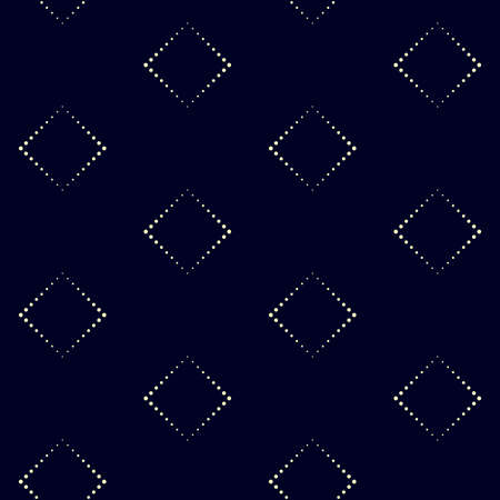 Geometric vector pattern in halftone style with shiny effect. Seamless background from dot rectangles. Can be used for fabric, paper, web design, textile, printed products.