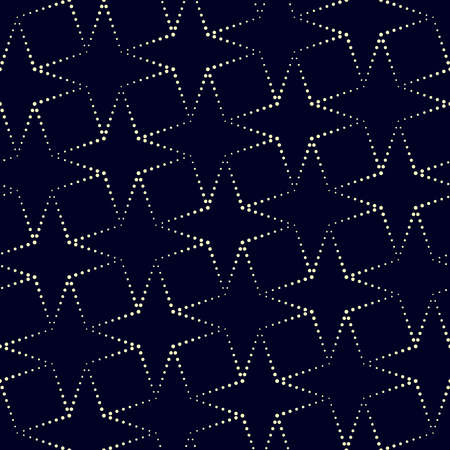 Geometric vector pattern in halftone style with shiny effect. Seamless background from dot stars. Can be used for fabric, paper, web design, textile, printed products. Illusztráció