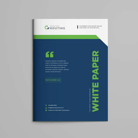 Brochure | White paper | Booklet | Company document | Business Plan|  Annual Report | Sales sheet | Catalog Cover Design Ilustracja