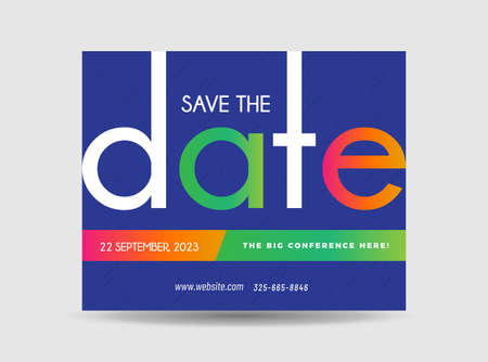 Corporate Business Postcard Design | Save The Date Invitation Card | Direct Mail EDDM Design