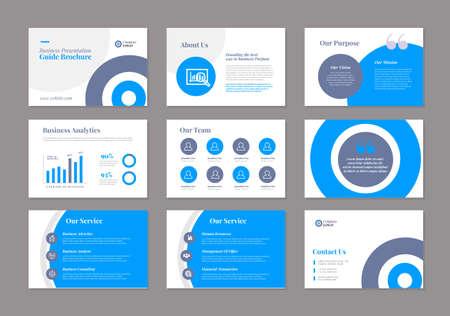 Business-Präsentation Broschüren-Leitfaden Design | Â Folienvorlage | Verkaufsleitfaden-Slider