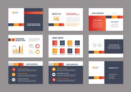 Business Presentation Brochure Guide Design | Slide Template | Sales Guide Slider