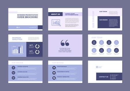 Business Presentation Brochure Guide Design , Slide Template , Sales Guide Slider Vettoriali