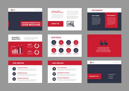 Business Presentation Brochure Guide Design , Slide Template , Sales Guide Slider
