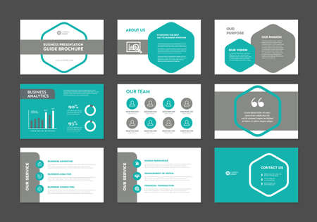Business Presentation Brochure Guide Design , Slide Template , Sales Guide Slider Ilustracje wektorowe