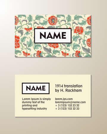 visit card: Vector floral visit card template, eps 10